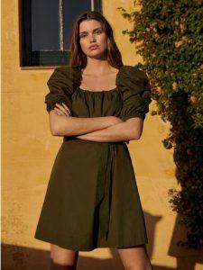 λαδι φορεμα κοντο mango