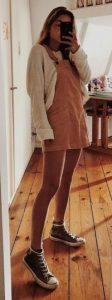 φορεμα με πουλοβερ και πανινα παπουτσια
