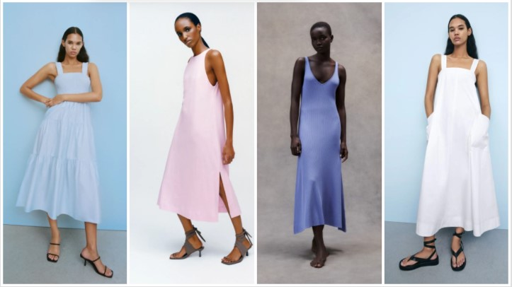 φορέματα παλ χρώμα καλοκαιρινά ρούχα Zara 2021