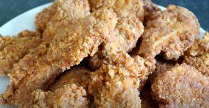 τηγανητές φτερούγες κοτόπουλο