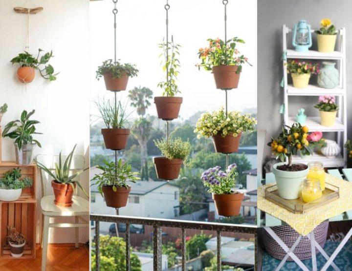 8 Τρόποι να διακοσμήσεις όμορφα το μπαλκόνι με γλάστρες!
