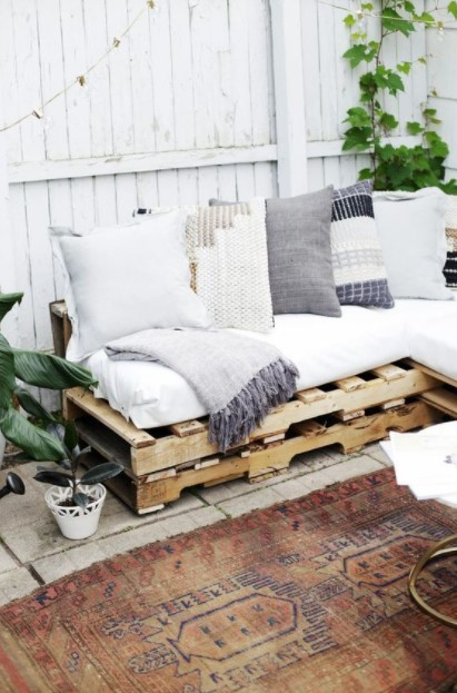 καναπές παλέτες μπαλκόνι καθίσματα μπαλκόνι