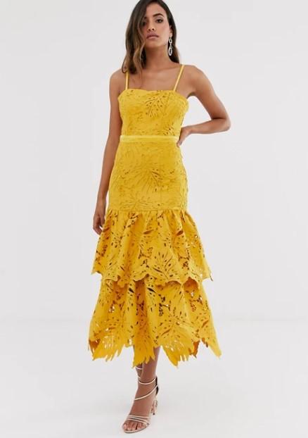 κίτρινο φόρεμα τιραντέ