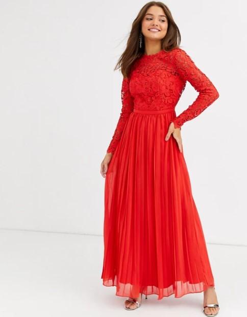 ΄μάξι κόκκινο φόρεμα