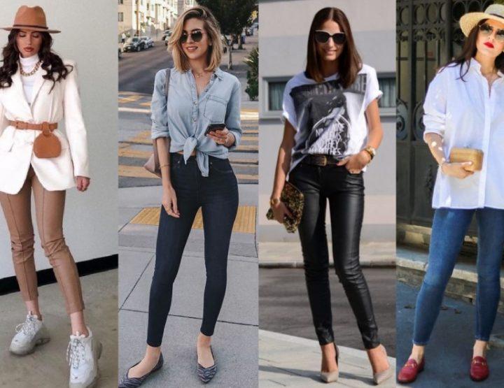 7 Κομψά ντυσίματα με κολλητό τζιν παντελόνι ή κολάν!