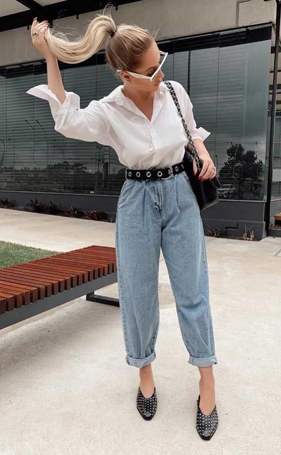 κομψό ντύσιμο με τζιν