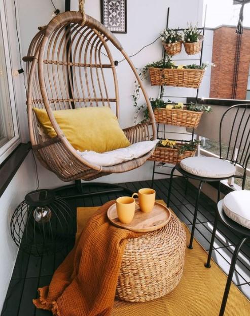κρεμαστή καρέκλα βεράντα