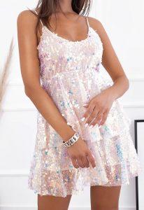 λαμπερό βραδινό φόρεμα