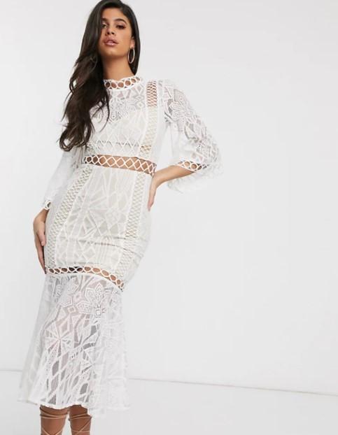 λευκό μάξι φόρεμα