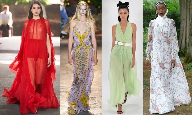 maxi φορέματα μόδα άνοιξη καλοκαίρι 2021