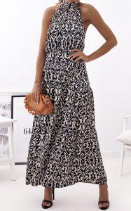 μακρύ ασπρόμαυρο φόρεμα