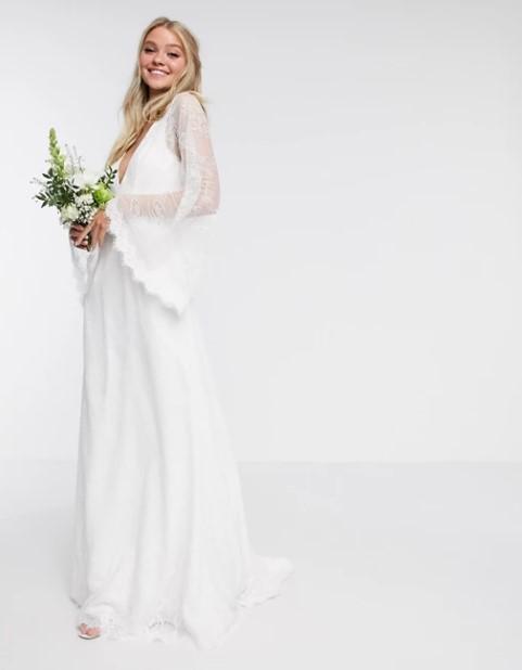 μακρύ φόρεμα νυφικό