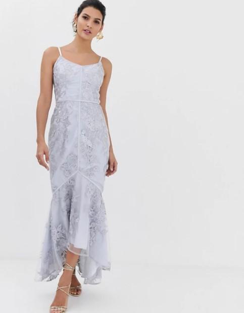 μακρύ φόρεμα τιραντέ ρομαντικά φορέματα δαντέλα