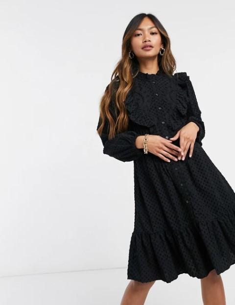 μαύρο φόρεμα ρομαντικό ρομαντικά φορέματα δαντέλα