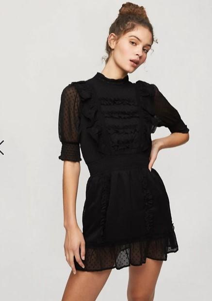 μαύρο μίνι φόρεμα ρομαντικά φορέματα δαντέλα