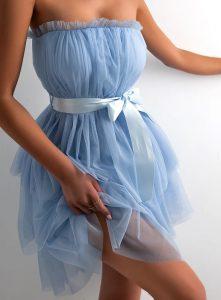 μίνι γαλάζιο φόρεμα