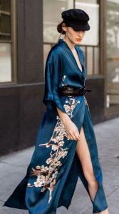 μπλε κιμονό φόρεμαα