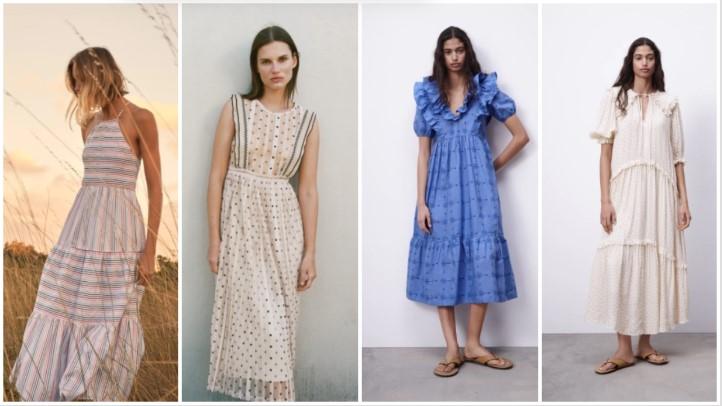 ρομαντικά φορέματα καλοκαιρινά ρούχα Zara 2021