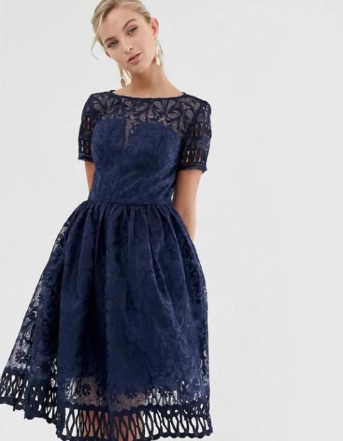 ρομαντικό μπλε φόρεμα