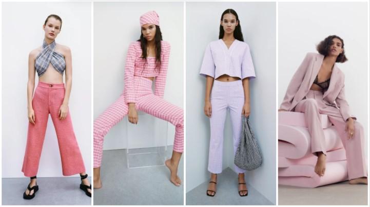 ροζ παντελόνια καλοκαιρινά ρούχα Zara 2021