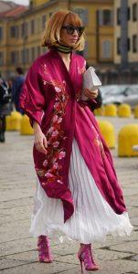 συνδυασμός φούστας με κιμονό