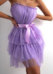 τούλινο φόρεμα λιλά
