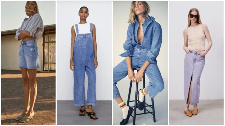 τζιν φούστες φόρμες καλοκαιρινά ρούχα Zara 2021
