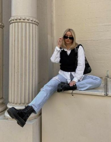 τζιν παντελόνι πουκάμισο γιλέκο μοντέρνα outfits τζιν