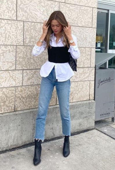 τζιν πουκάμισο γιλέκο