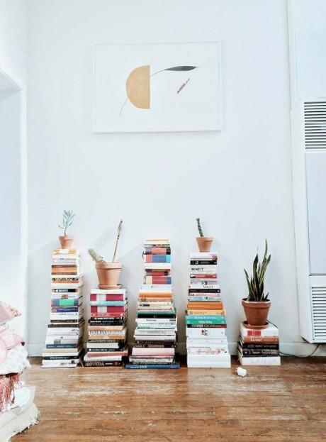 βιβλία πάτωμα βιβλία διακόσμηση