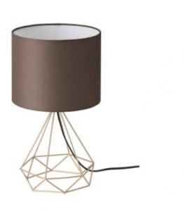 καφέ επιτραπέζιο φωτιστικό υπνοδωμάτιο