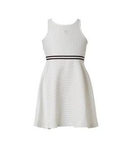 φορεμα λευκομε μαυρη ζωνη