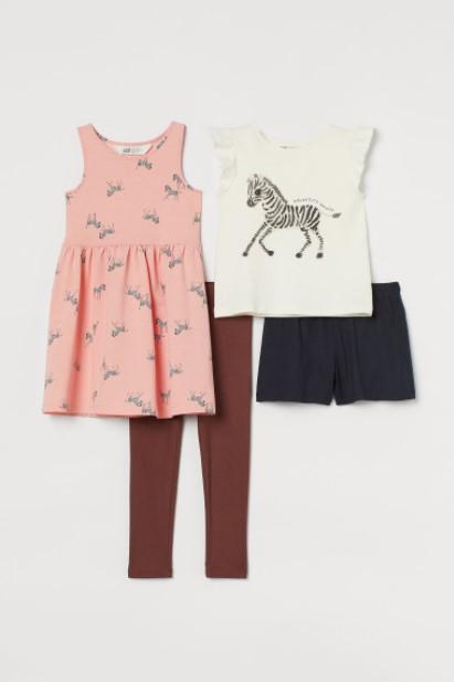 δυο σετ μακρύ κοντό παιδικά ρούχα H&M καλοκαίρι 2021