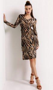 ελαστικό φόρεμα με animal print
