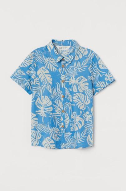 φλοράλ πουκάμισο παιδικά ρούχα H&M καλοκαίρι 2021
