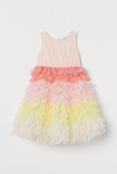 φόρεμα τούλι παιδικά ρούχα H&M καλοκαίρι 2021