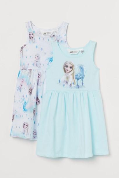 frozen φορέματα παιδικά ρούχα H&M καλοκαίρι 2021