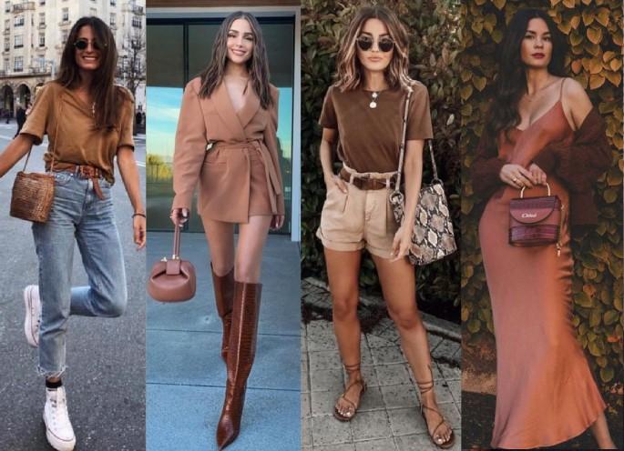 καλοκαιρινά ντυσίματα σε καφέ χρώμα