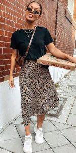 καλοκαιρινό outfit με φούστα