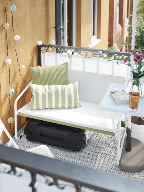 καναπές μπαλκόνι μικρό μπαλκόνι ΙΚΕΑ
