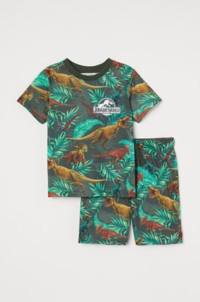 καθημερινό σετ δεινόσαυροοι παιδικά ρούχα H&M καλοκαίρι 2021