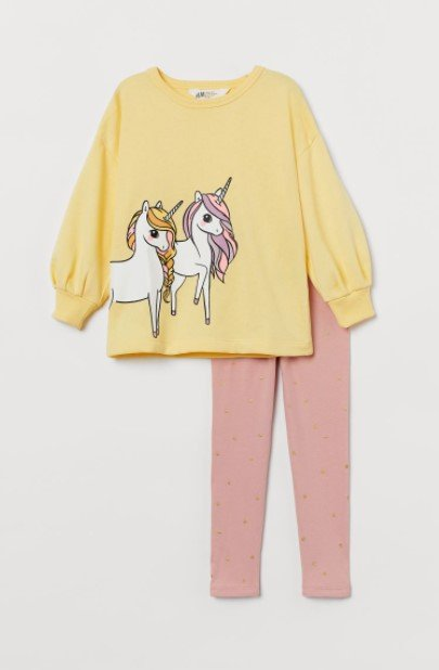 κίτρινο φούτερ κολάν παιδικά ρούχα H&M καλοκαίρι 2021