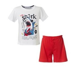 κοκκινη βερμουδα λευκη μπλουζα mini raxevsky