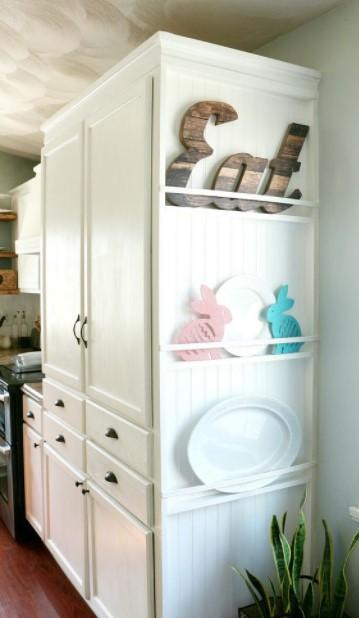 κουζίνα διακοσμημένο πλαϊνό μέρος ντουλαπιών