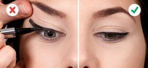 λαθος και σωστος τροπος eyeliner