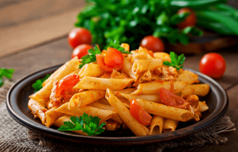 μακαρόνια με κόκκινη σάλτσα αντικαταστήσεις παχυντικές τροφές