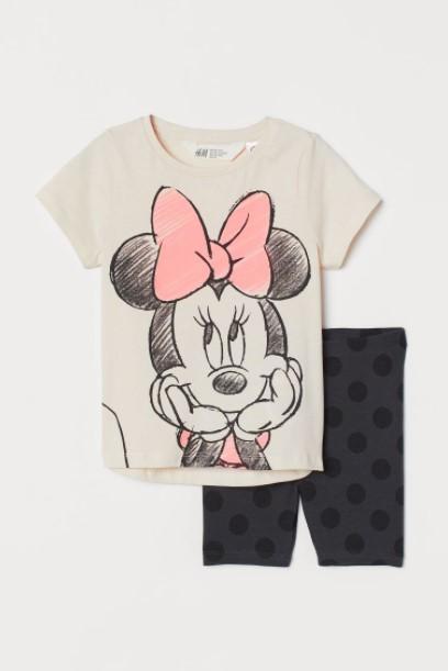 μαύρο κολάν μπλούζα μίνι παιδικά ρούχα H&M καλοκαίρι 2021