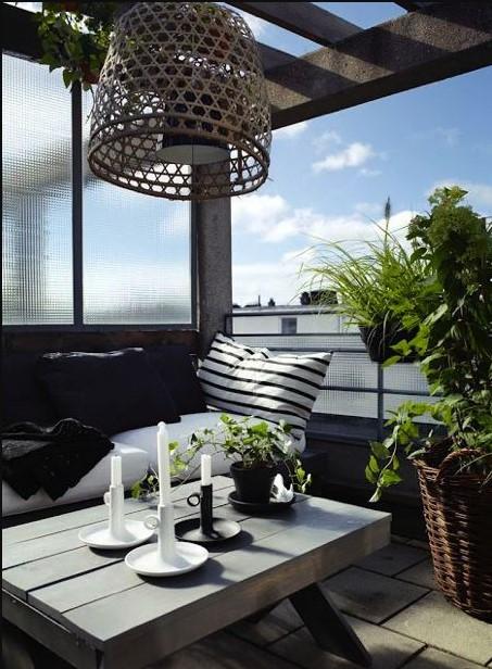 μπαλκόνι φωτιστικό οροφής