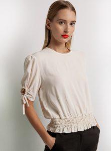 μπλούζα με ελαστικό τελείωμα