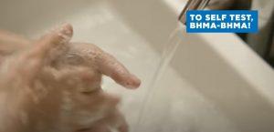 πλύσιμο χεριών για τη χρήση του self test